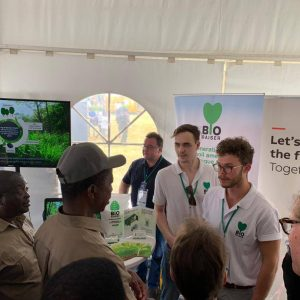 Representatives of company called Biosorbio  at the Agritech Expo 2019 in Zambia.