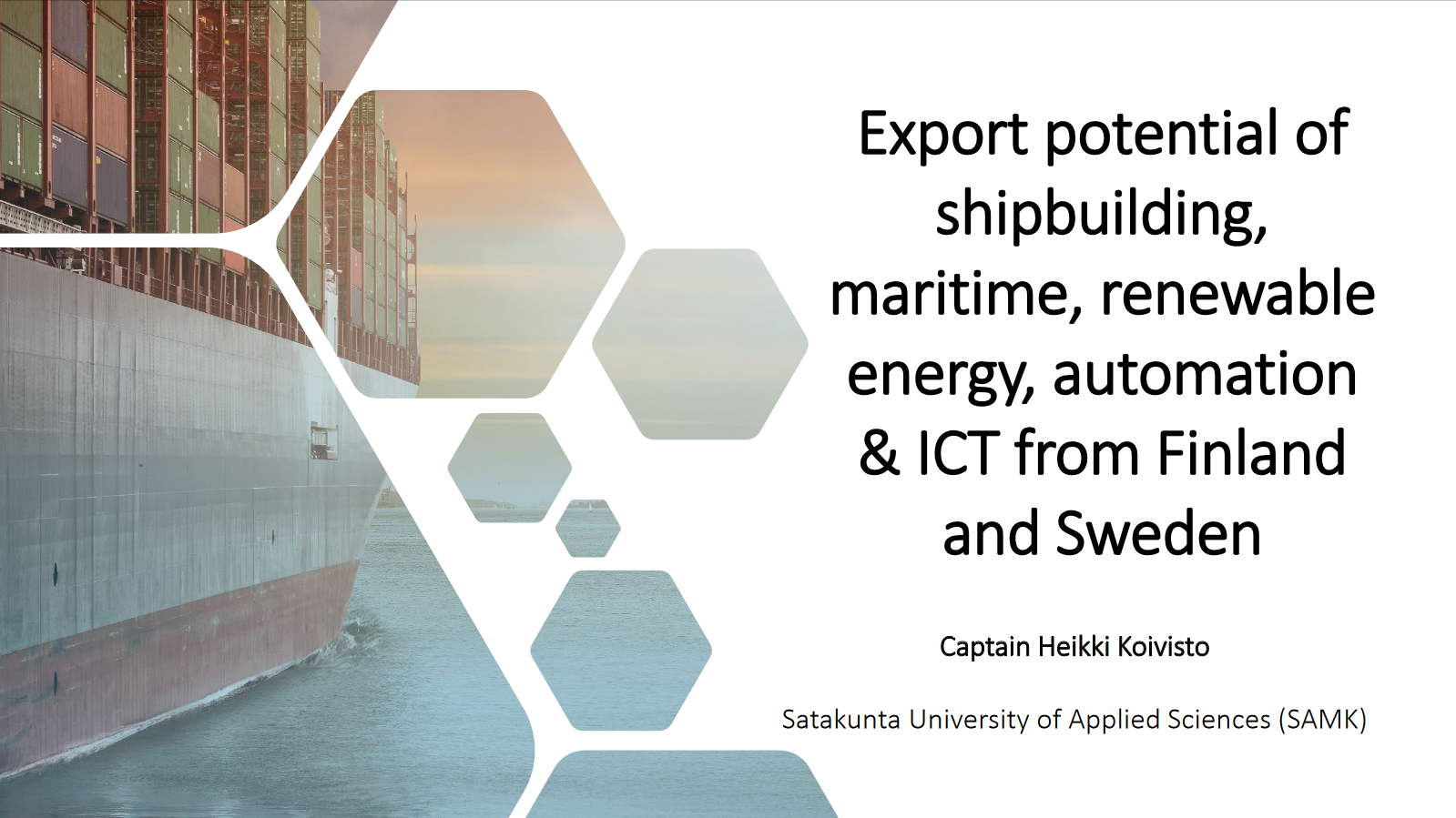 Click to open Export potential of ship building presentation.