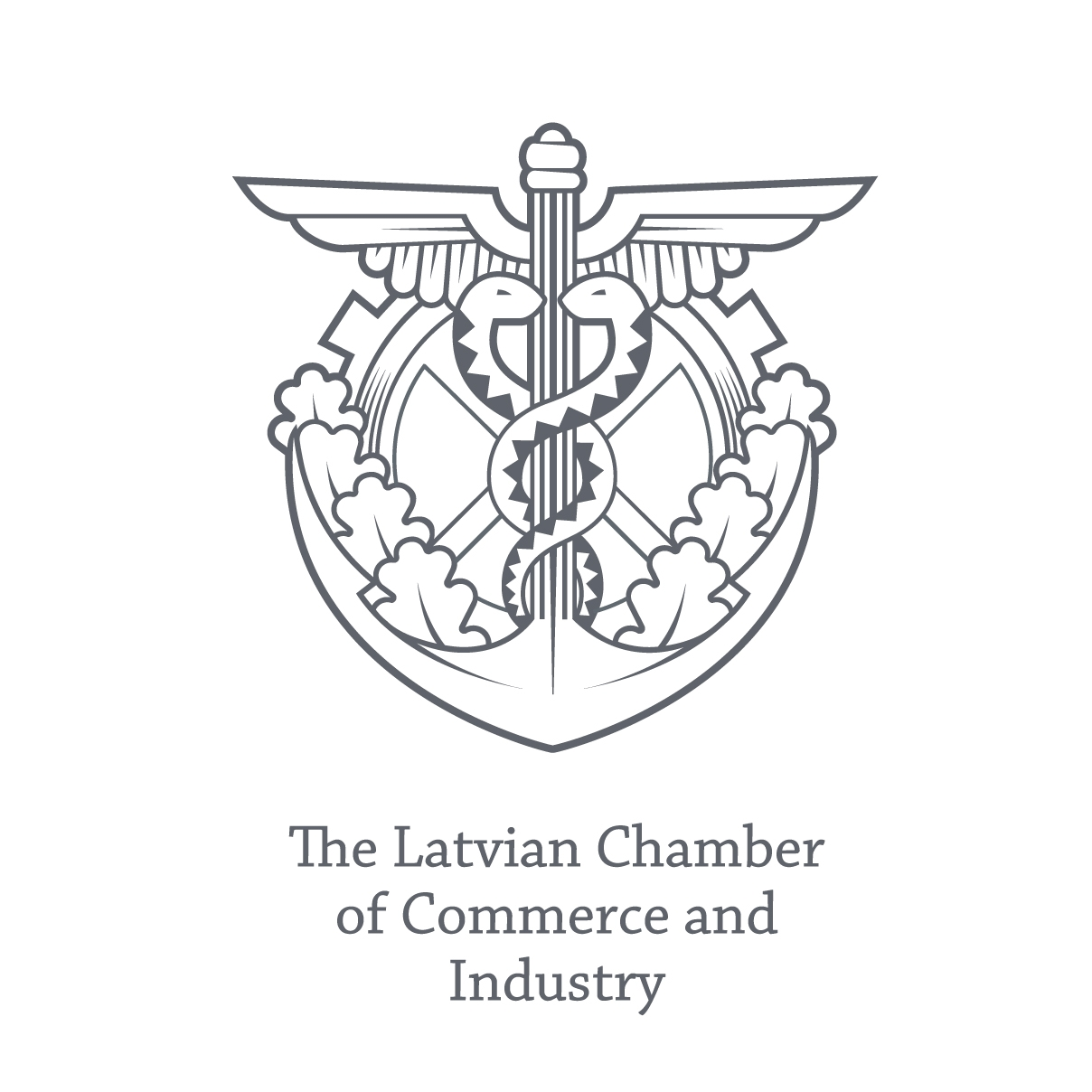 The Latvian chamber of commerce and industry logo.
